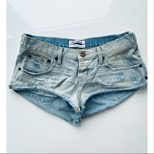 One Teaspoon Bonitas Denim Jean Shorts 25